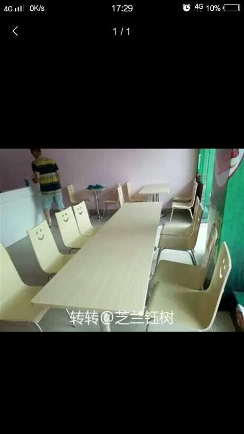 4人桌椅 另有饭店用其他设施