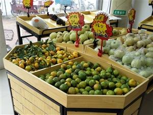水果超市货架,九成新,买回来没怎么用,低价出售。