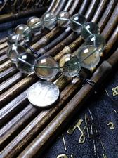 纯天然绿幽灵手串 招财助事业运 珠子18mm+ 适合霸气男士 微信414007856