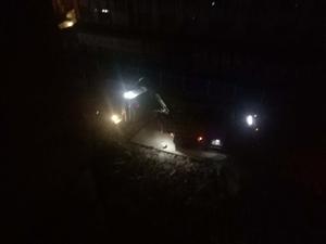 二马路半夜施工