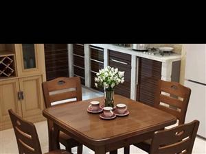 伸缩餐桌椅(90*90)9成新 母子床(120*190)