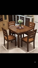 伸�s餐桌椅(90*90)9成新 母子床(120*190)