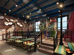 惠水县县府路瑞星大厦二楼美食城大概就是这样子,半式开放的,这是装修的设计效果图,欢迎你来购铺