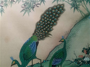 出售工笔花鸟长卷。十米长卷,喜欢收藏滴联系!