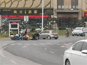 三桥转盘发生电动车事故