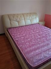 席梦思双人床,框架结构,1.8x2.0米,九成新,优惠出售,有意电联:18085642653