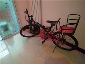 永久自行车24速26寸折叠山地自行车双碟刹黑红色。2017京东购买,原价700元,因为要去外地,低价...