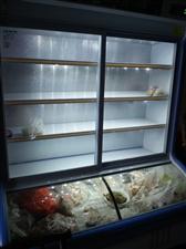 雪村展示柜,1.5米,双门,上面冷藏,下面冷冻,只用过四个月,