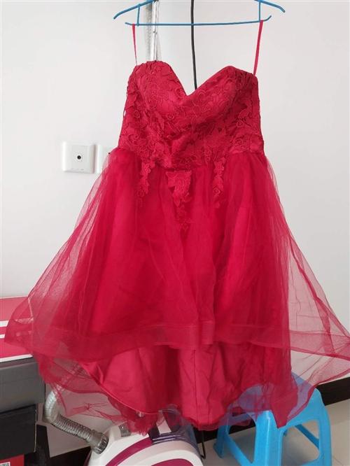 新娘敬酒服,100-130斤都可穿.只穿过几次,8成新,放的有点皱了,一洗就好了,同城可试穿,只穿一...