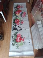 朋友送的字画,急用钱出手400×80的花开富贵