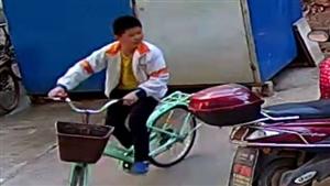 于都站前大道东方医院旁寻找偷自行车的小孩