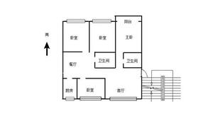 荷花苑1层,四居室,毛坯,46万,