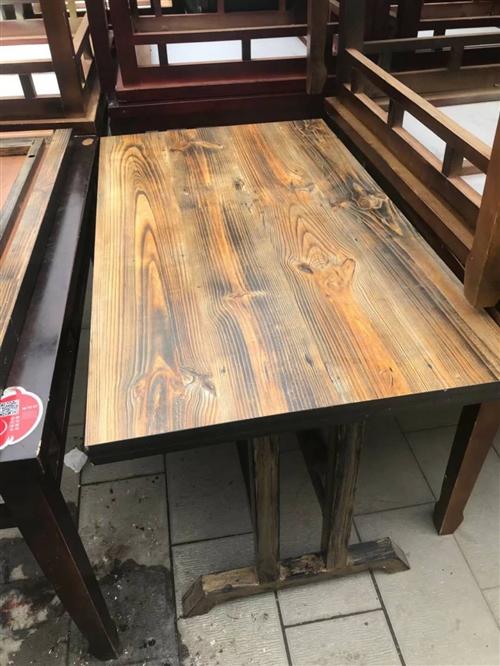 精品实木桌椅,卡座,便宜处理