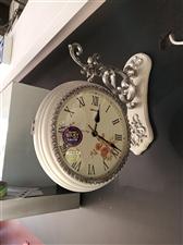 欧式复古客厅卧室大号双面挂钟