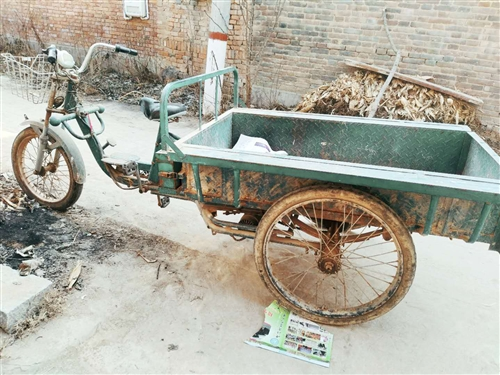 老式电动三轮车,带电瓶500,不要电瓶300,电瓶8成新,在郑州买的卖水果用的,城管管的太严,没有用...