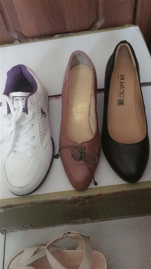 庫存貨:37號女士真皮皮鞋一雙60:3雙180:電話16699230559:王女士