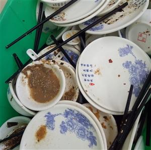 在东方蓝海饭店用到这么恶心的消毒餐具