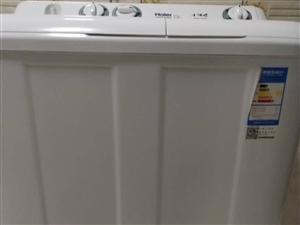 出售海尔小神螺半自动洗衣机,8公斤。因有两台所以出售,九成新。