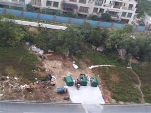 鹤山公园1号物业在爱尚都荟旁市政?#23114;?#29992;地建立一个垃圾场