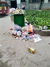 大年初一的湍滨小区,垃圾成堆,堆成行!