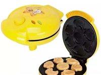 蒸蛋糕小型家用迷你薄饼铛饼干饼煎饼锅烘培微型蛋糕机盖板美味(上班没时间做,全新没用过的)