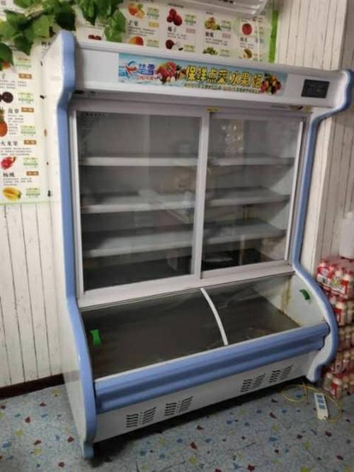 蔬菜保鲜柜(冷冻 冷藏)1000元,冷藏立柜展示柜 1100元。自用时间一年。白菜价格 ,非诚勿扰!