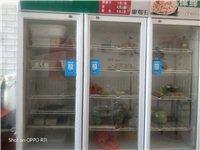 出售8成新3門展示柜,冰柜,小展示柜