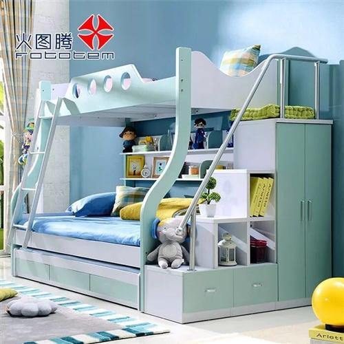 儿童高低床(底下1.3米,上面是1.0)带衣柜带写字书桌!原价12000元搞7800元买的,9成新,...