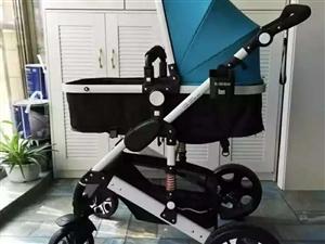 九成新高景观婴儿推车一个,带减震可坐可躺,需要的电话联系18793761271