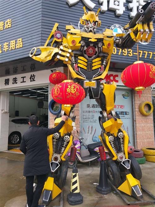 轉讓大黃蜂機器人一臺高4米(參照物的人高1.7米)九成新,2018年5月購買原價22000元。由于城...