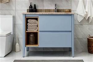 厂家直销浴室柜。太空铝洗衣柜