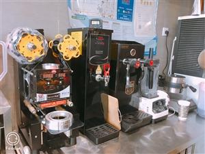 奶茶店全套设备机器低价出售,封口机  开水机  蒸汽加热机  松饼机  制冰机  蛋糕柜  冷藏柜 ...