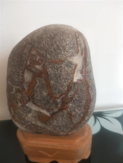 个人收藏奇石一块出售。