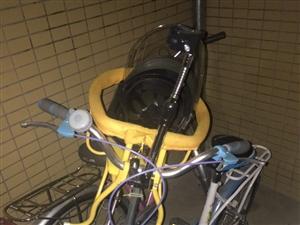 因買了一輛電動自行車,故出售用沒有半年的腳踏自行車,適合寶媽使用!買來350元,8成新