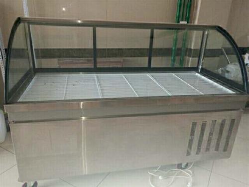 九成新熟食展示柜,1.8米,双压缩机,上面制冷,下面冷冻电话18244115787