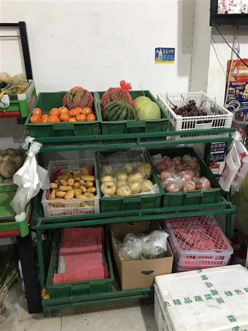 超市货架更新换代   蔬菜超市货架,有蔬菜盆,架子,处理,白菜价!!有需要来看看 电话152378...