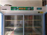 雪村冷藏冷冻两用展示柜,1.4米宽。自用98新。