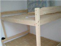 上下架床,新的闲置无用过,实木带书架带抽屉