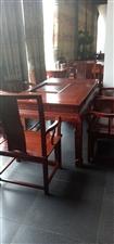 胜坝张总慧眼识珠在我祥和红木古典家具馆选定红木家具全套系列,床、沙发、餐桌、电视柜等,祝张总祥和富贵