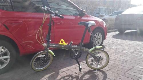 折疊變速自行車九成新。