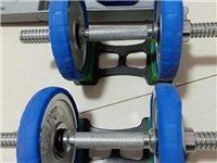 健身哑铃一套。带两个盒子。一根连接杆手套。可以自由拆卸,总重量60斤。适合在家健身的朋友。