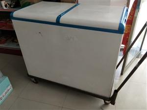 美的冰柜带焊架,一面冷藏,一面冷冻,