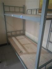 铁架高低床,折叠床9.9成
