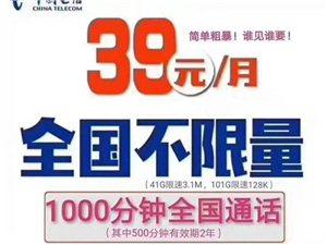 39元電信,每月39元贈1000分鐘100G