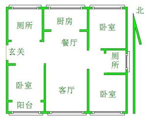 现代城3室 2厅 2卫129万元