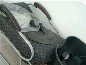 理发椅子(可放倒)冲水床配套,格子黑