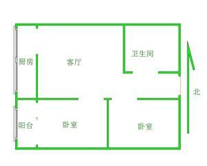 现代城二期2室 1厅 1卫45万元