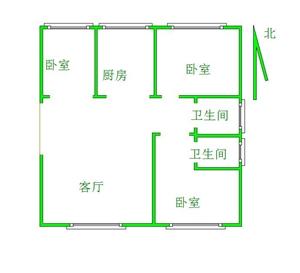 龙泉花园3室 2厅 2卫104万元
