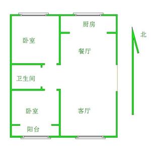 温馨家园2室 2厅 1卫80万元