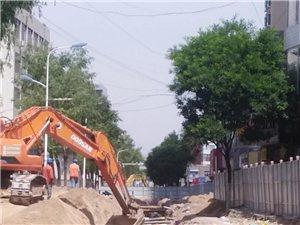 街道提升改造工程�M度如�牛爬行!